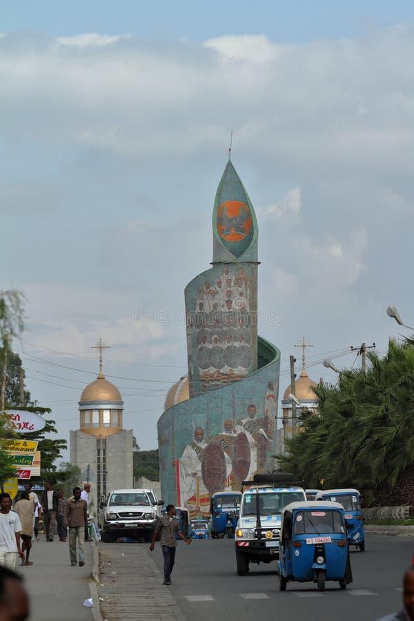 Stad av Awassa i Etiopien royaltyfri foto