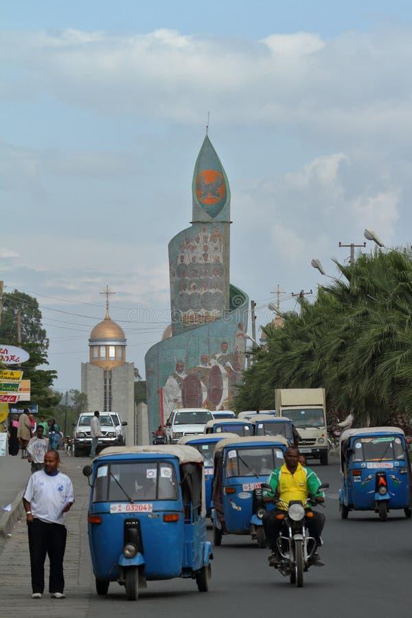 Stad av Awassa i Etiopien arkivbild