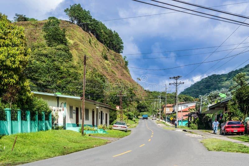 Stad av Boquete i Panama arkivbilder