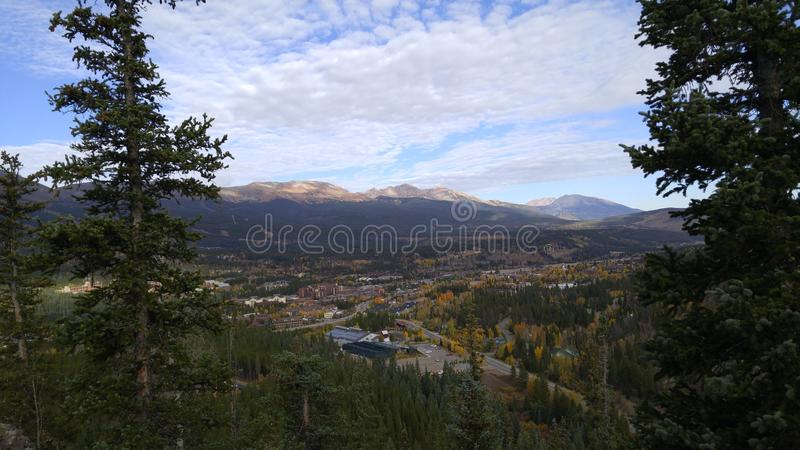 Stad av Breckenridge Colorado arkivfoton