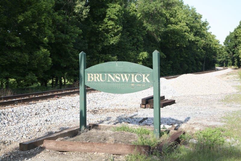 Stad av Brunswick Tennessee royaltyfri foto