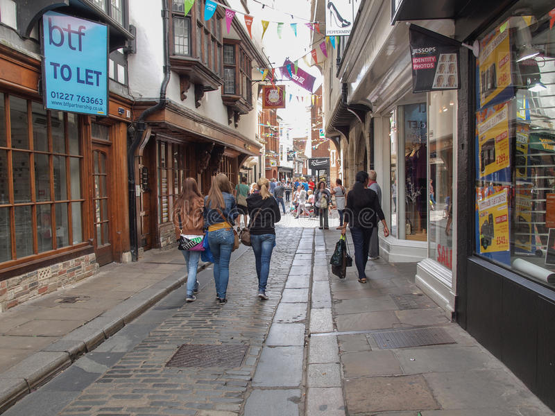 Stad av Canterbury royaltyfria foton