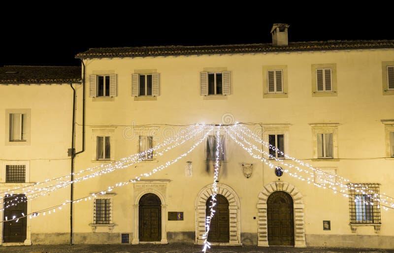 Stad av Cascia i Umbria, Italien arkivfoto