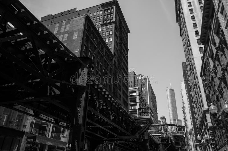 Stad av Chicago. arkivbild