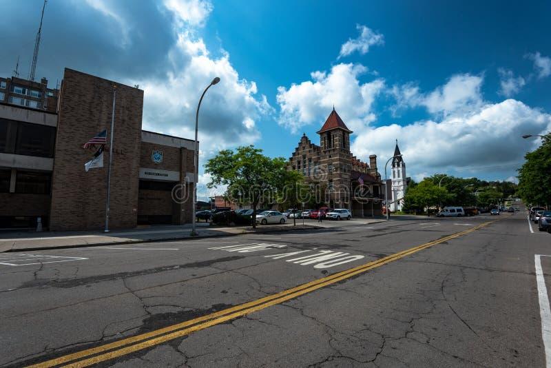 Stad av Cortland, NY fotografering för bildbyråer