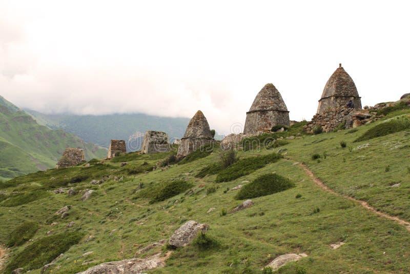 Stad av dödaen i Kabardino-Balkaria arkivbild