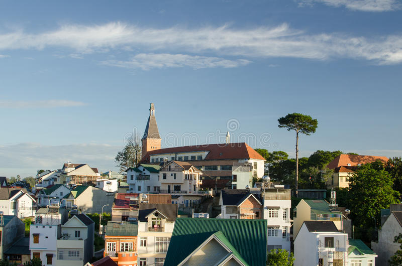 Stad av DaLat, Vietnam arkivbild