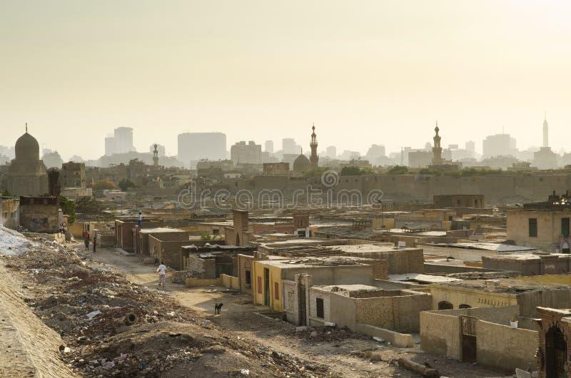 Stad av den döda slumkvarteret i cairo Egypten royaltyfria foton