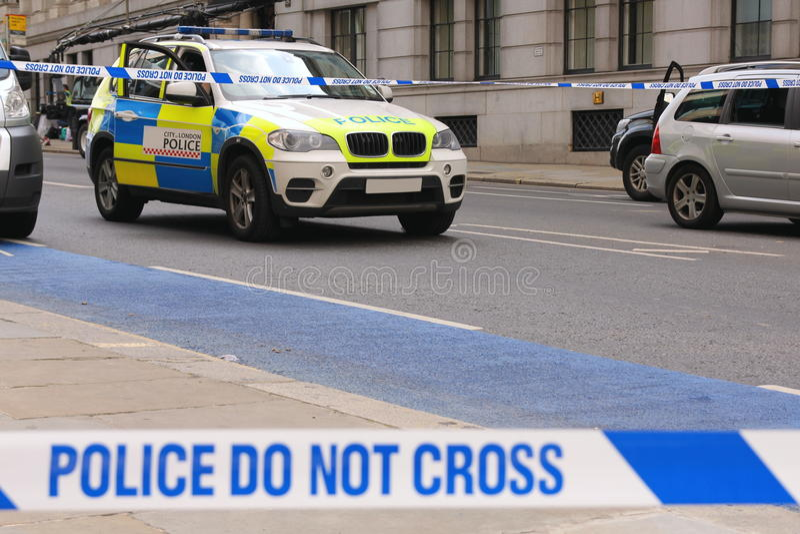 Stad av den London polisen arkivbild