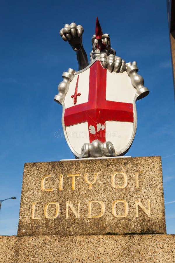 Stad av det London vapen arkivfoton