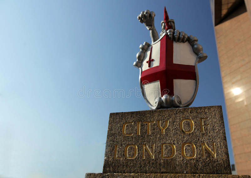 Stad av det London vapnet royaltyfri bild