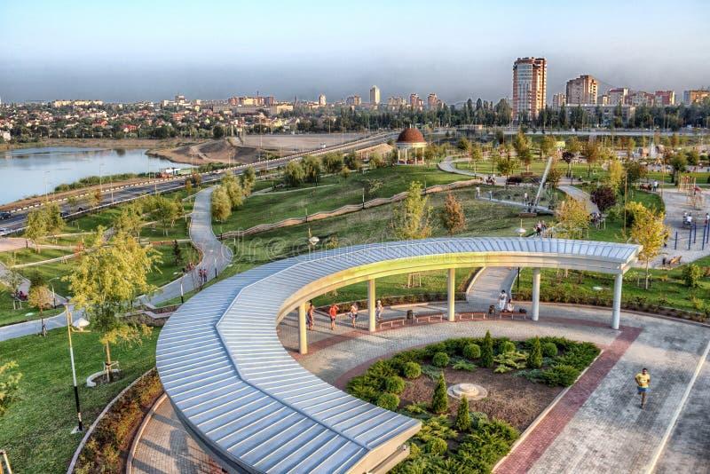 Stad av Donetsk, Ukraina arkivfoto