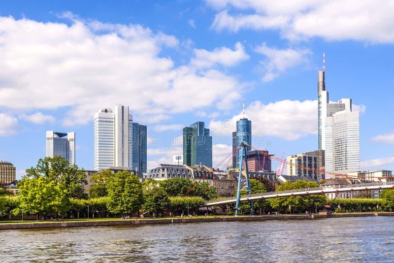 Stad av Frankfurt, Tyskland arkivfoto