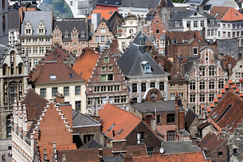 Stad av Ghent royaltyfria foton