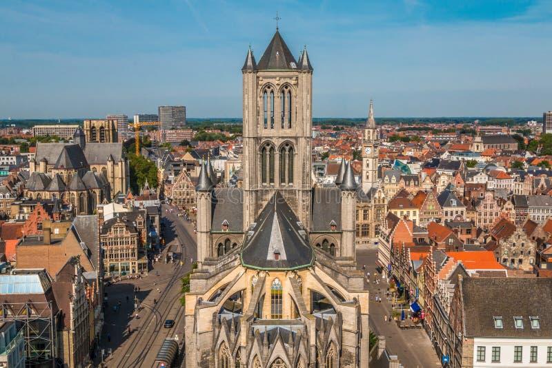 Stad av Ghent arkivfoton