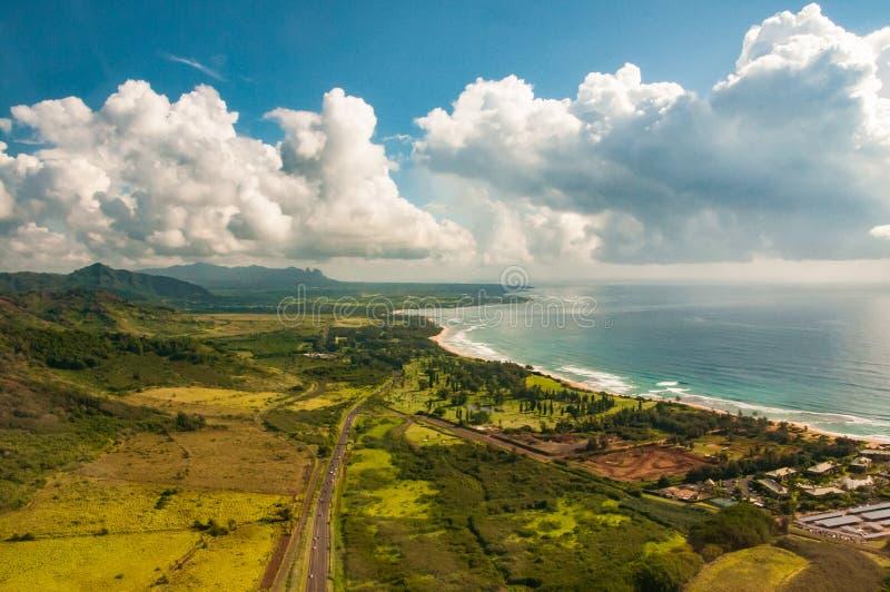 Stad av Hanapepe på Kauai royaltyfri bild