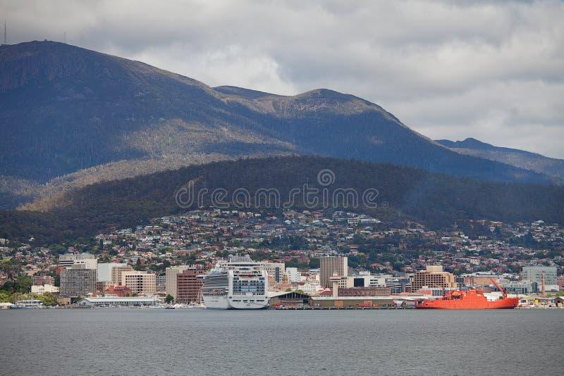 Stad av Hobart Tasmania royaltyfri bild