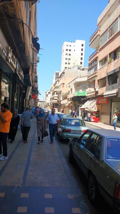 Stad av homs efter krig royaltyfri bild