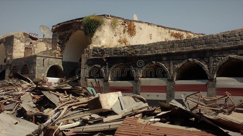 Stad av homs efter krig royaltyfri fotografi