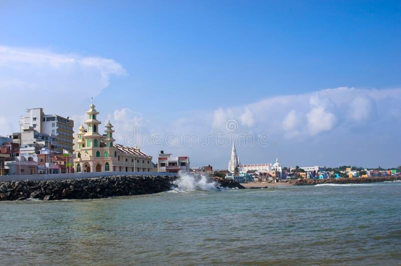 Stad av Kanyakumari, Indien royaltyfria bilder