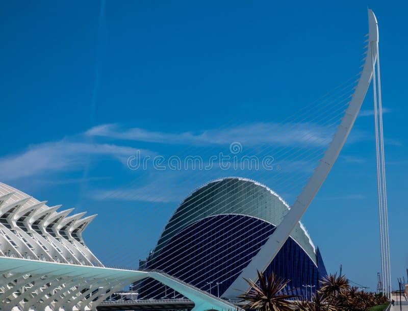 Stad av konster och vetenskap i Valencia, Spanien, Europa royaltyfria foton
