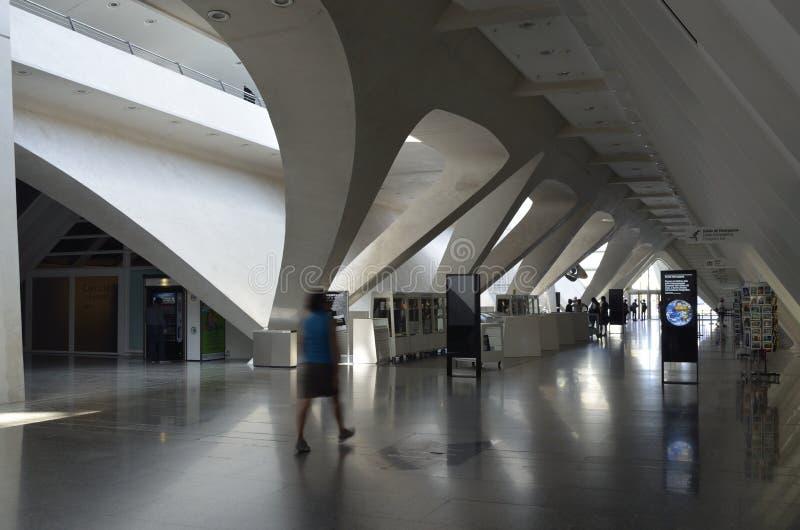 Stad av konster och vetenskaper av Valencia Spain royaltyfri foto