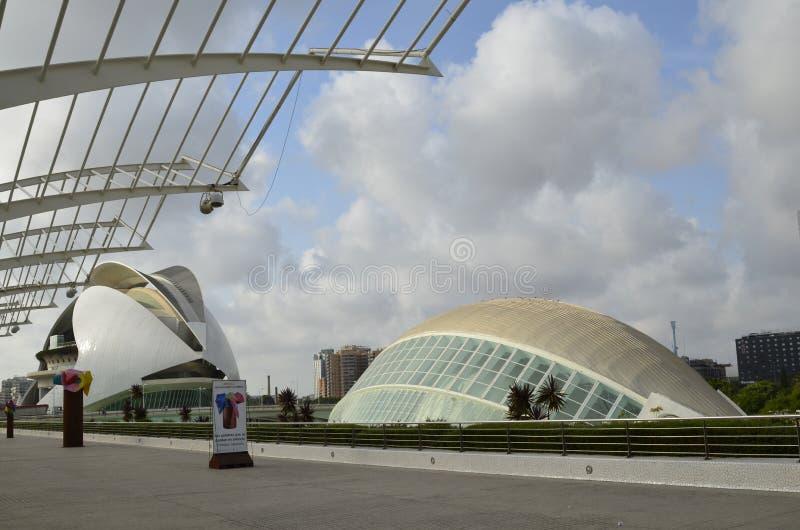 Stad av konster och vetenskaper, Valencia, Spanien Augusti 16 2017 arkivfoton