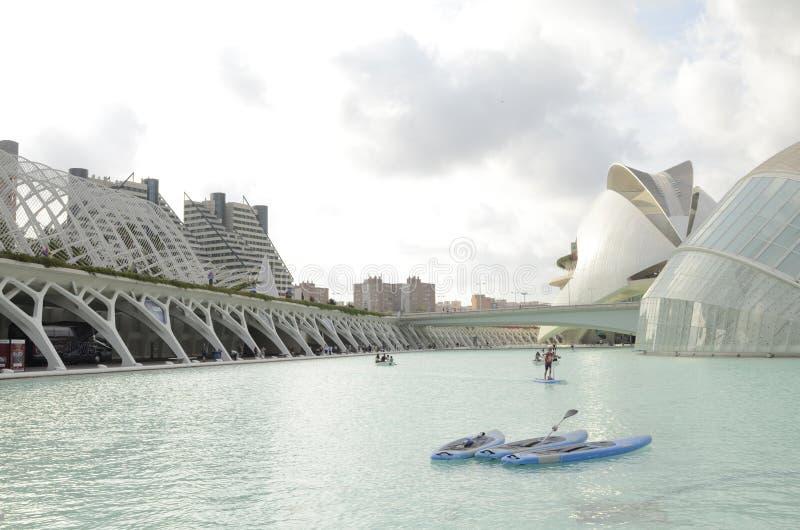 Stad av konster och vetenskaper, Valencia, Spanien Augusti 16 2017 royaltyfri fotografi