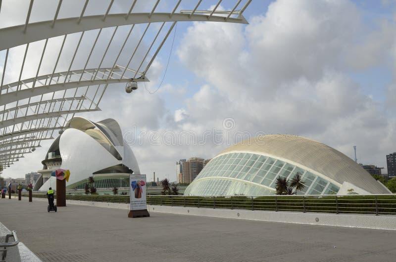 Stad av konster och vetenskaper, Valencia, Spanien Augusti 16 2017 royaltyfria bilder