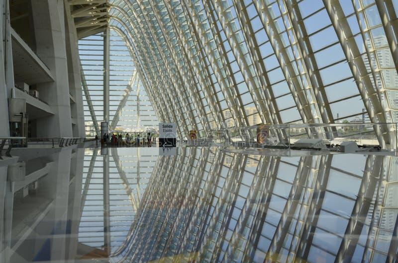 Stad av konster och vetenskaper, Valencia, Spanien Augusti 16 2017 arkivbild