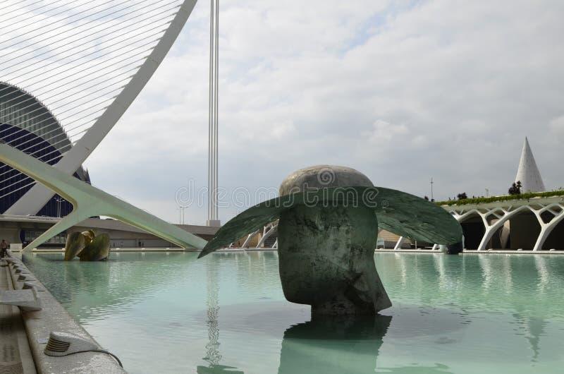 Stad av konster och vetenskaper, Valencia, Spanien Augusti 16 2017 royaltyfri bild