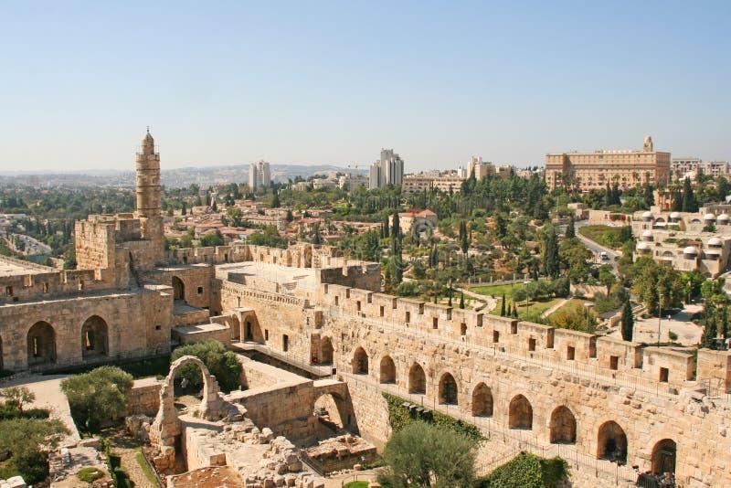 Stad av konungen David, Jerusalem, Israel royaltyfria bilder
