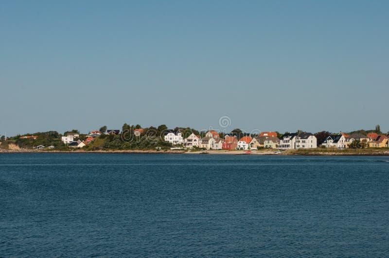 Stad av Korsoer i Danmark arkivfoton
