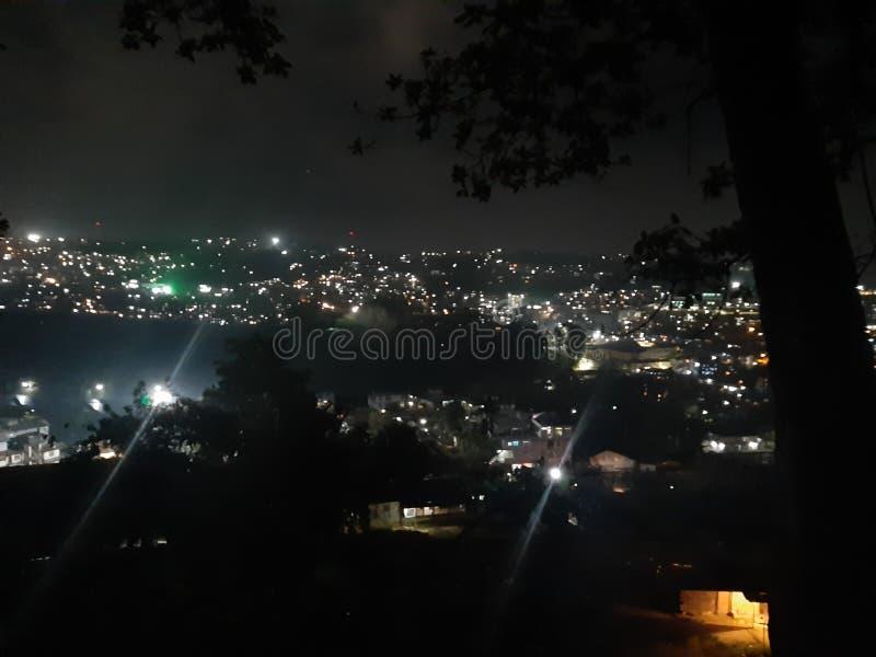 stad av ljus Itanagar Arunachal Pradesh arkivbild