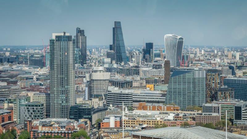 Stad av London en av den leda mitten av global finans arkivfoto