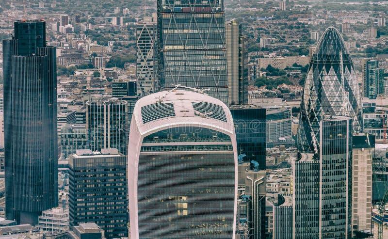 Stad av London en av den leda mitten av global finans royaltyfri bild