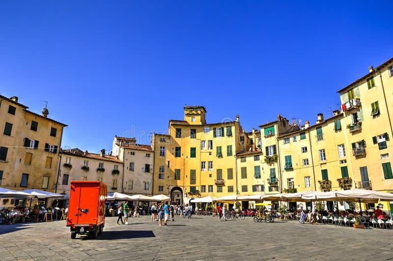 Stad av Lucca, Italien royaltyfri fotografi
