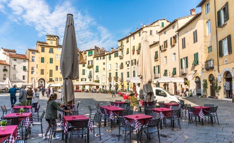 Stad av Lucce, Italien royaltyfri fotografi
