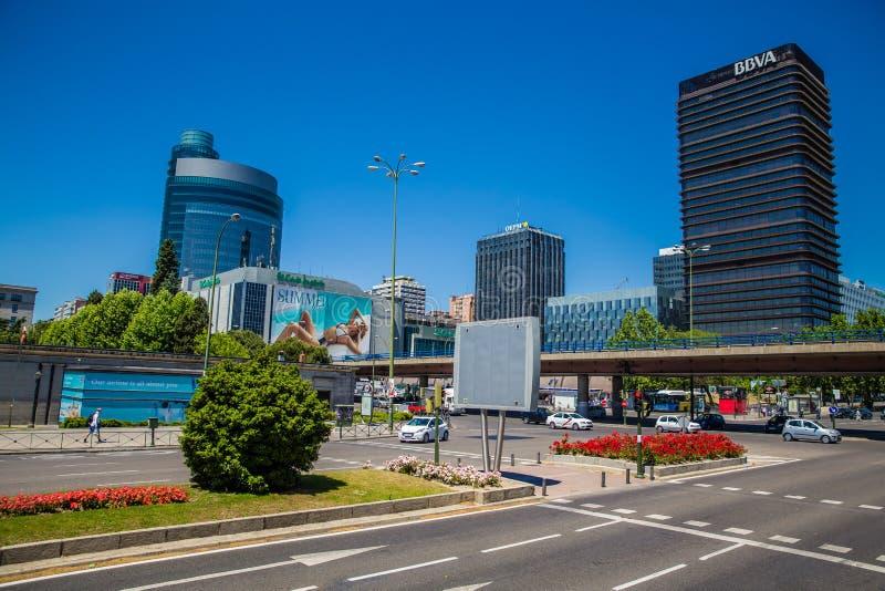 Stad av Madrid royaltyfri fotografi