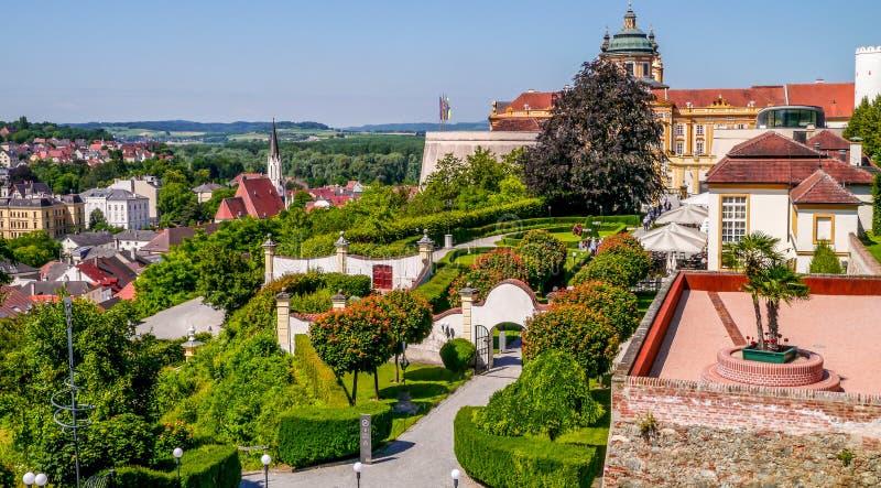 Stad av Melk - Österrike royaltyfri foto