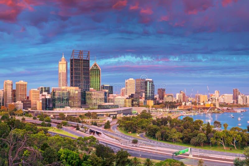 Stad av Perth, Australien royaltyfria bilder