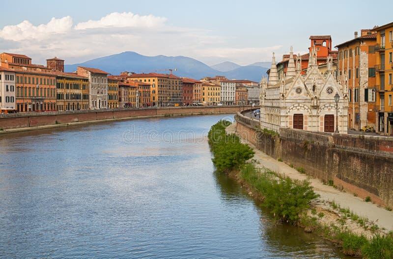Stad av Pisa. arkivfoton