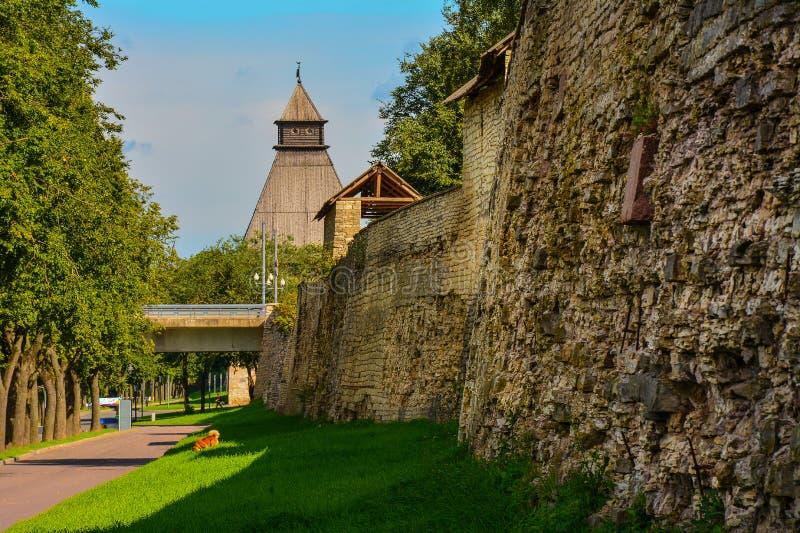 Stad av Pskov fotografering för bildbyråer