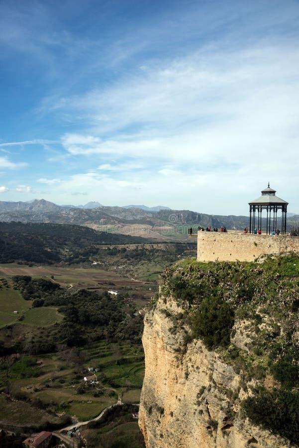 Stad av Ronda i det spanska landskapet av Malaga i Andalusia arkivbild