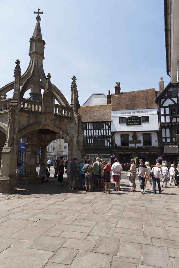 Stad av Salisbury Wiltshire England UK arkivfoton