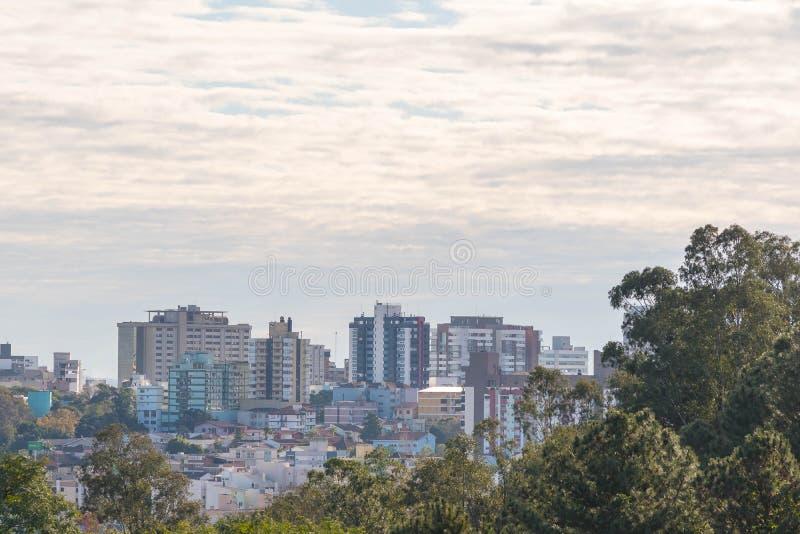 Stad av Santa Maria, Brasilien arkivbilder