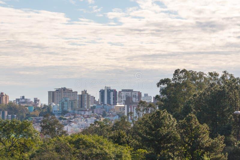 Stad av Santa Maria, Rio Grande do Sul, Brasilien 01 arkivbild