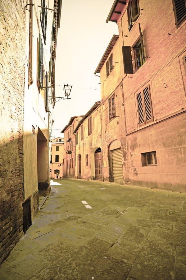 Stad av Siena i Tuscany royaltyfri fotografi