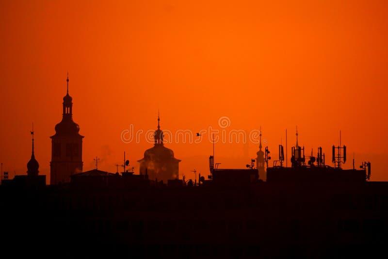Stad av 100 torn fotografering för bildbyråer