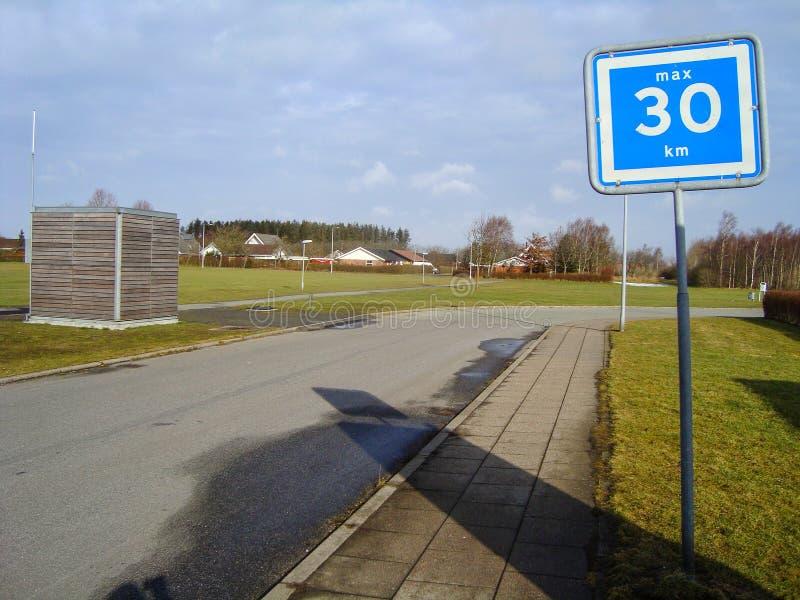 Stad av Tylstrup i Danmark arkivbilder